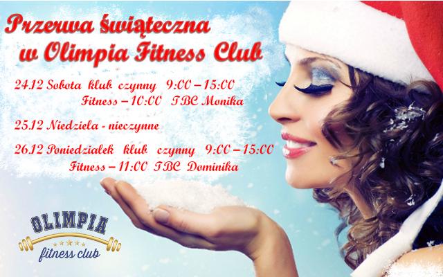 Przerwa Świąteczna w Olimpia Fitness Club